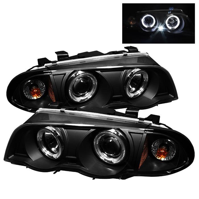Spyder Black Projector LED Halo Headlights for 1999-2001 E46 BMW 325i/ 328i/ 330i Sedan