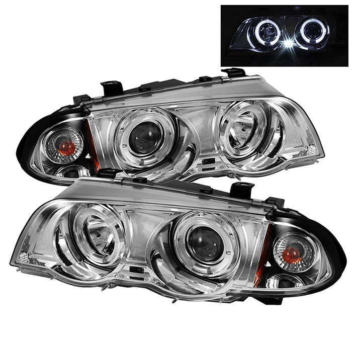 Spyder Chrome Projector LED Halo Headlights for 1999-2001 E46 BMW 325i/ 328i/ 330i Sedan