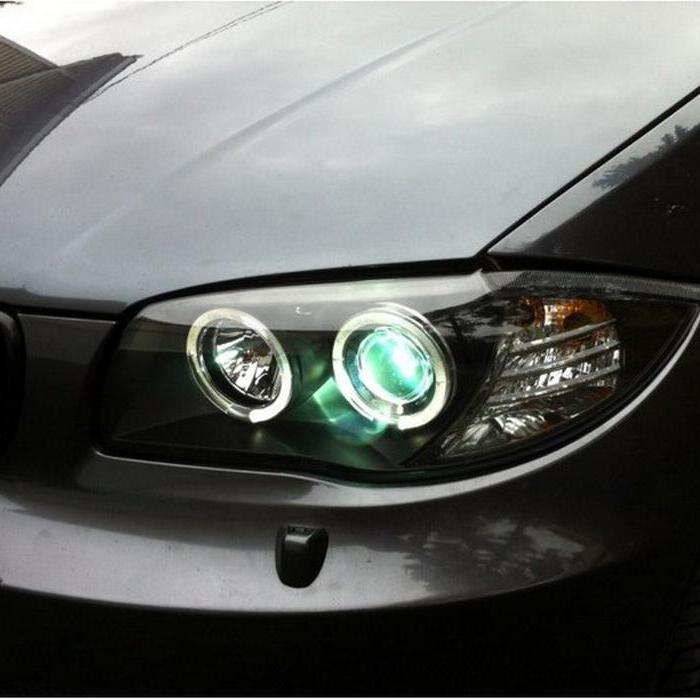 Spyder LED Halo Black Projector Headlights for 2008-2001 1-Series BMW [E87] PRO-YD-BMWE87-HL-BK