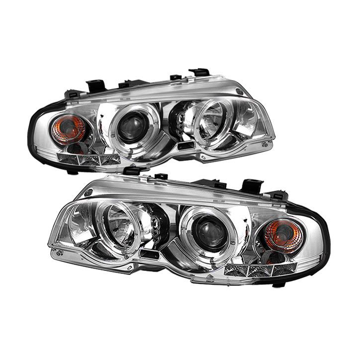 Spyder Chrome Projector LED Halo Headlights for 2000-2003 E46 BMW 325i/ 328i/ 330i Sedan