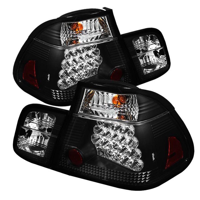 Spyder LED Black Tail Lights for 2002-2005 BMW 325i/ 328i/ 330i [E46] Sedan