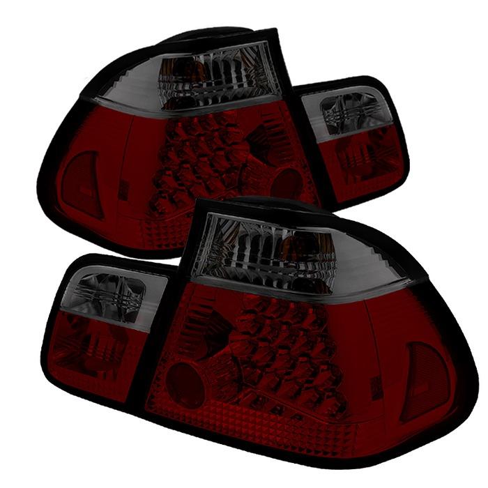 Spyder LED Red Smoke Tail Lights for 2002-2005 BMW 325i/ 328i/ 330i [E46] Sedan