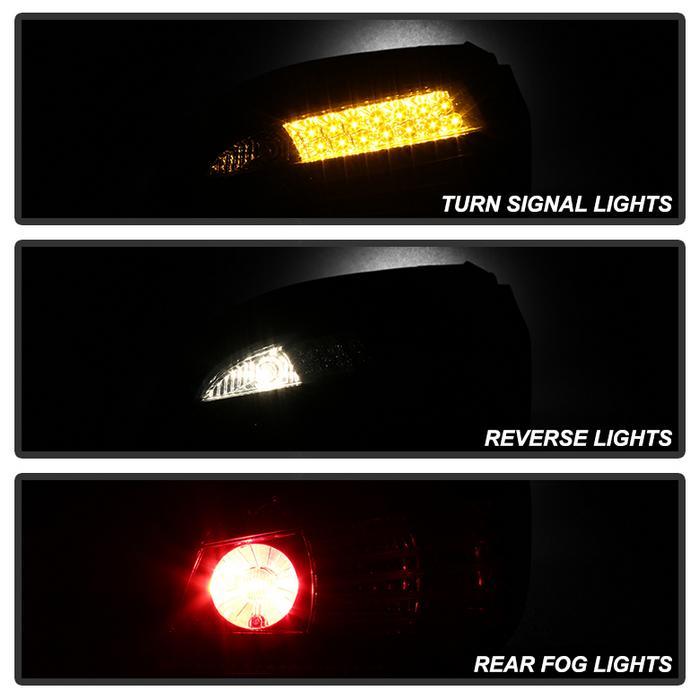 Spyder LED Smoked Tail Lights for 2008-2010 BMW 525i/530i/535i/550i/M5 [E60] ALT-YD-BE6008-LED-SM