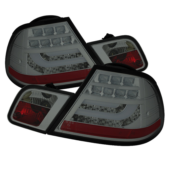 Spyder Smoked Style LED Lightbar Tail Lights for 2000-2003 BMW 325i/ 328i/ 330i [E46] Coupe