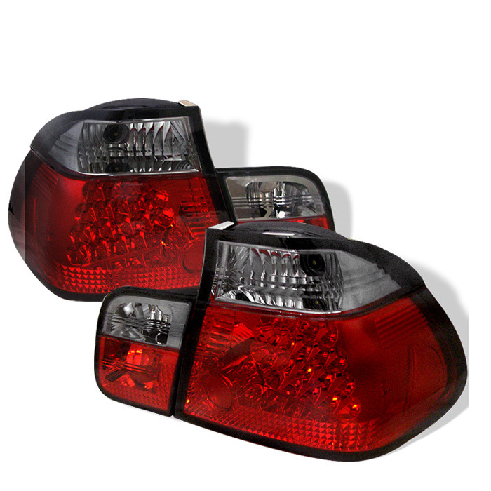 Spyder Red Smoke LED Tail Lights For 1999-2001 BMW 325i