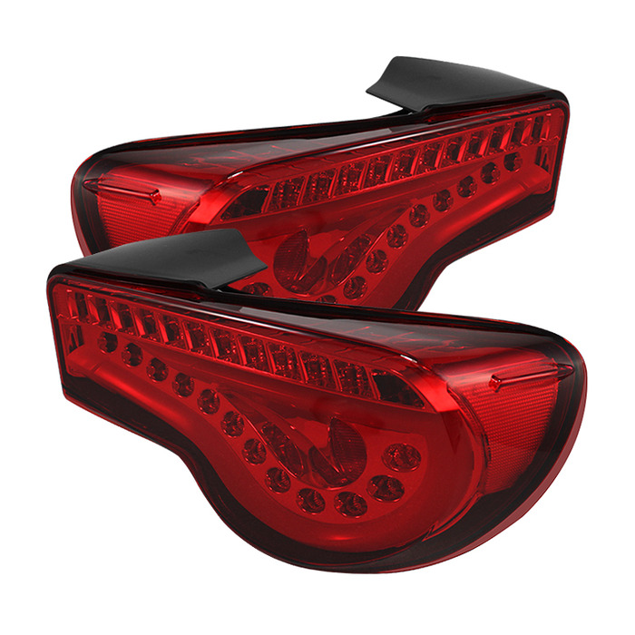 Spyder LED Lightbar Red Tail Lights for 2012-15 Scion FR-S/Subaru BRZ SFRS12-LBLED-RD