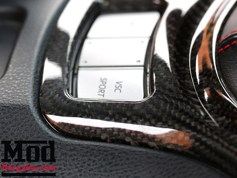 Carbon Fiber Gear Shifter Bezel Cover for 2012+ Scion FR-S/Subaru BRZ Installed at ModBargains 4