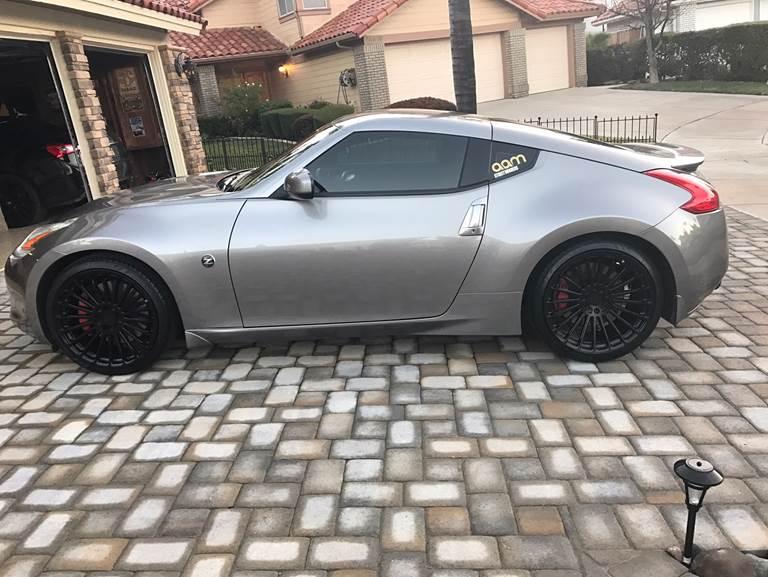 TSW Turbina Wheels in Matte Black on Nissan 370Z (2)