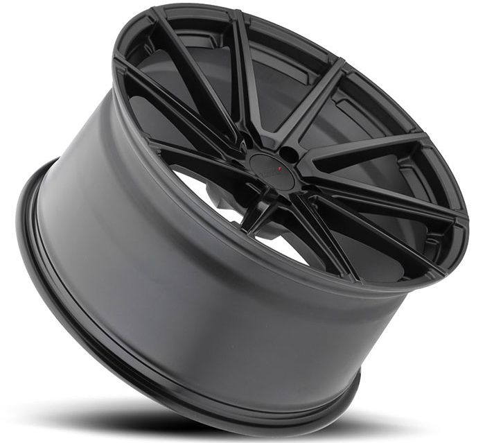 TSW Watkins Wheels in Double Black - Matte Black w/ Gloss Face Nissan