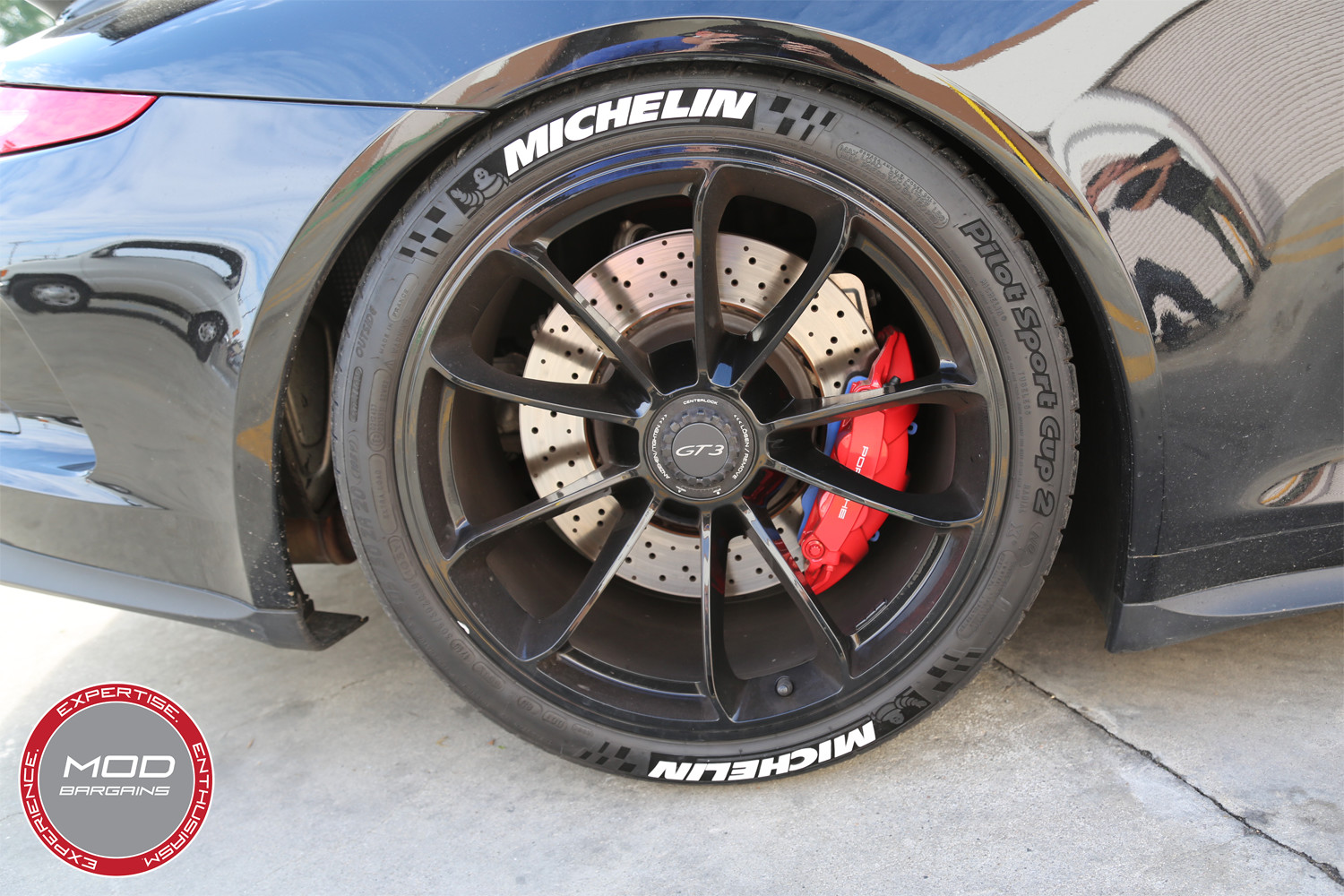 Michelin Tire Stickers Installed