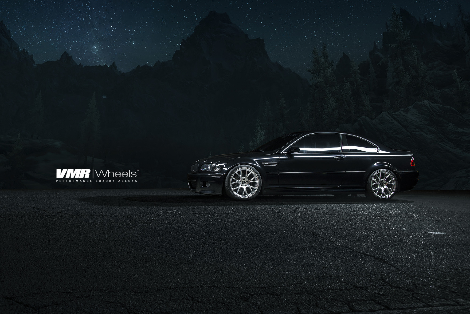 VMR V810 19in Hyper Silver Wheels on BMW E46 M3
