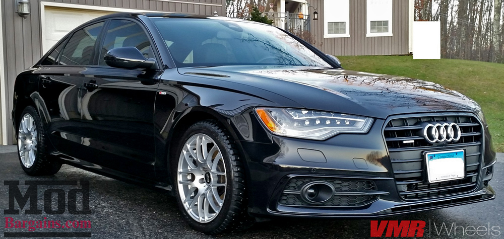 VMR V718 Wheels Hyper Silver on 2014 Audi A6 C7 18x8.5 ET35