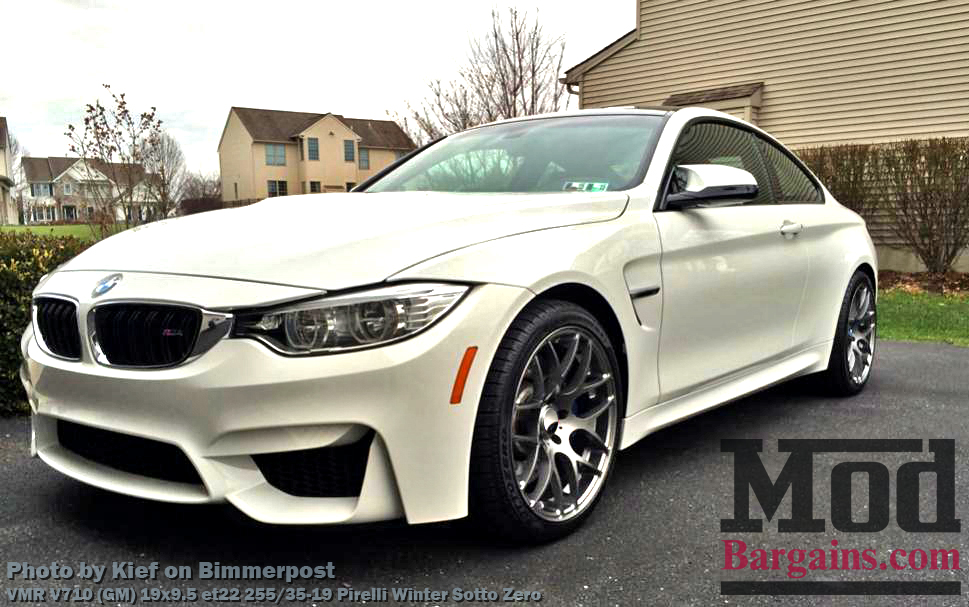 VMR V710 Wheels on BMW M4 F82 Alpine White Gunmetal Wheels