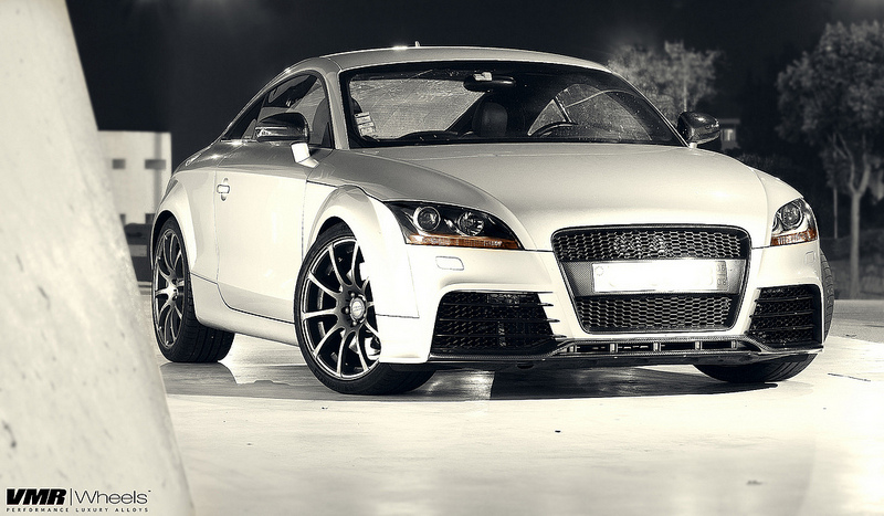VMR Wheels V701 Advan RS Style Gunmetal on Audi TT