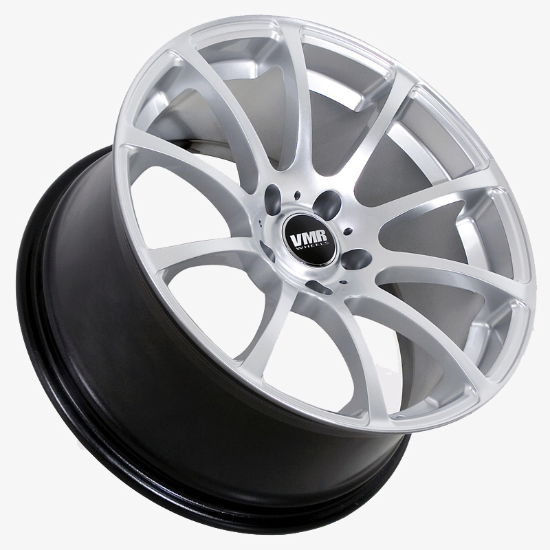VMR Wheels V701 Advan RS Style Hyper Silver Angled