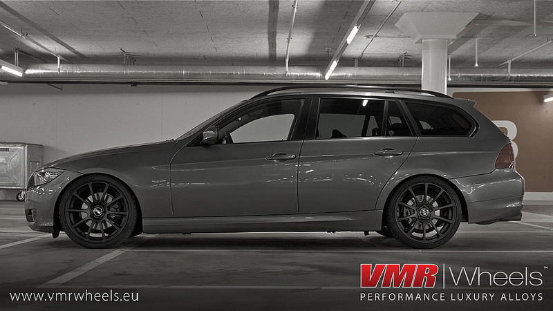 VMR Wheels V701 Advan RS Style Matte Black BMW Side View