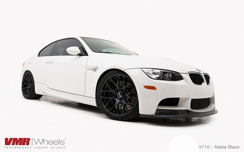 VMR Wheels V710 Non Staggered 18inch E92 Matte Black