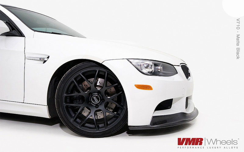 VMR Wheels V710 Matte Black 18inch Non Staggered E92