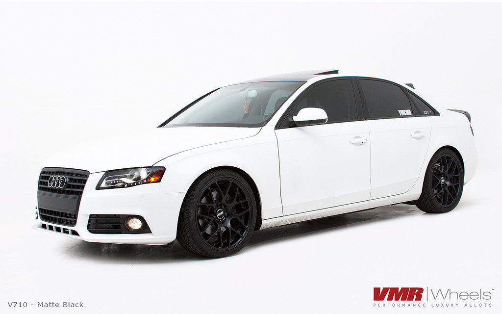 VMR V710 Matte Black on Audi