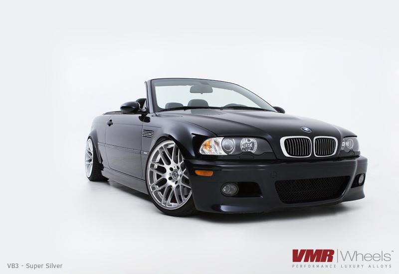 "VMR Wheels VB3 CSL Replica 19"" Silver on black E46 M3"