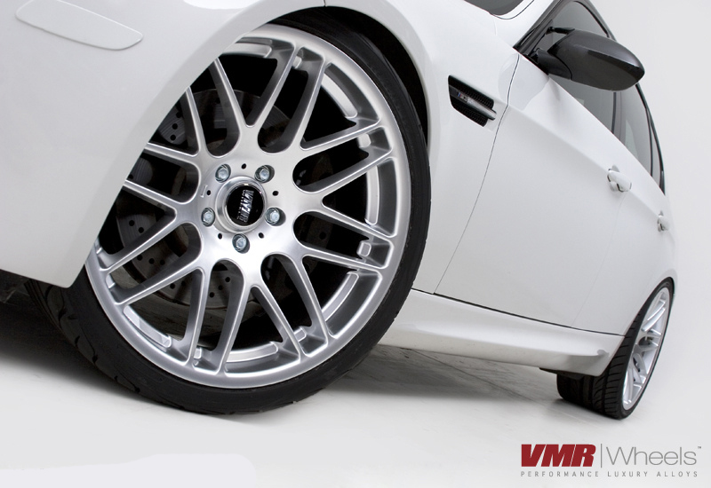 "VMR Wheels VB3 CSL Style 18"" Staggered on white E90 Close"