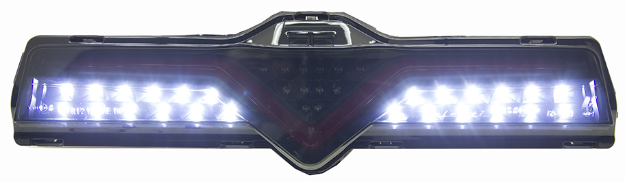 Valenti 3rd Brake Light Smoked Lens/Black Housing/Red Bar