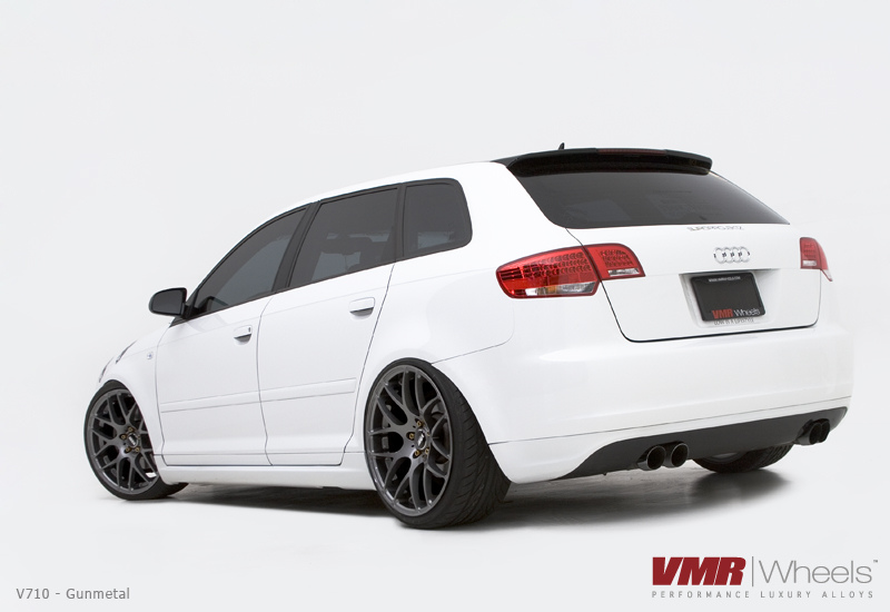 VMR Wheels V710 Gunmetal on White Audi A3