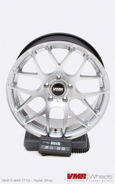 VMR V710 Wheels 18inch Non-Staggered Hyper Silver