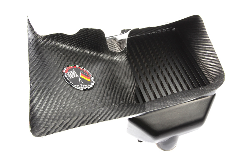 b5 s4 carbon fiber intercooler duct detail