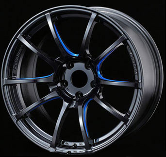 WedsSport SA55M Wheel Black Blue Machining