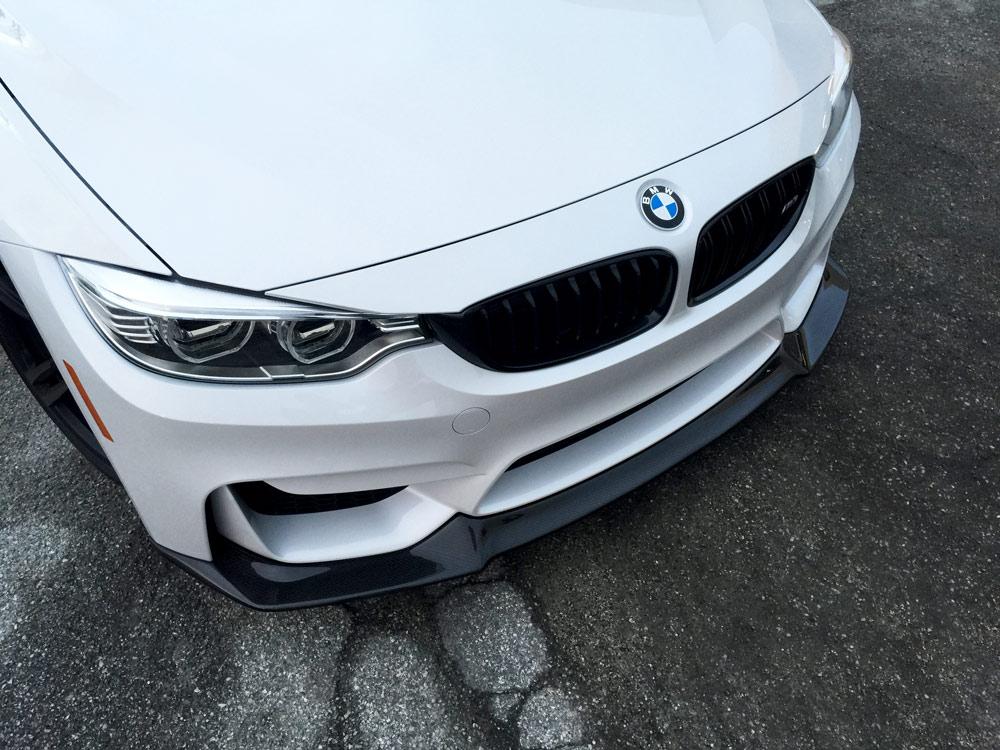 Dinmann Carbon Fiber Aero Front Lip for 2015+ BMW M3 + M4 [F80 / F82]