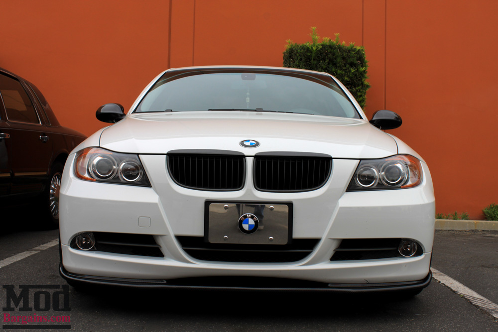 Carbon Fiber Front Lip for 2006-10 BMW 3-Series Coupe/Sedan [E90/E92] (Pre-LCI) HM-Style