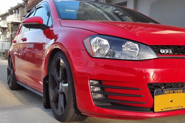 Rally Armor MudFlaps Black on MKVII Golf GTI