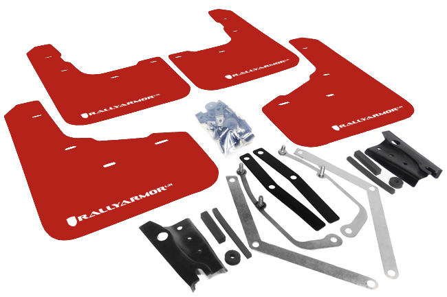 Ford Fiesta ST Red Mud Flaps White Logo