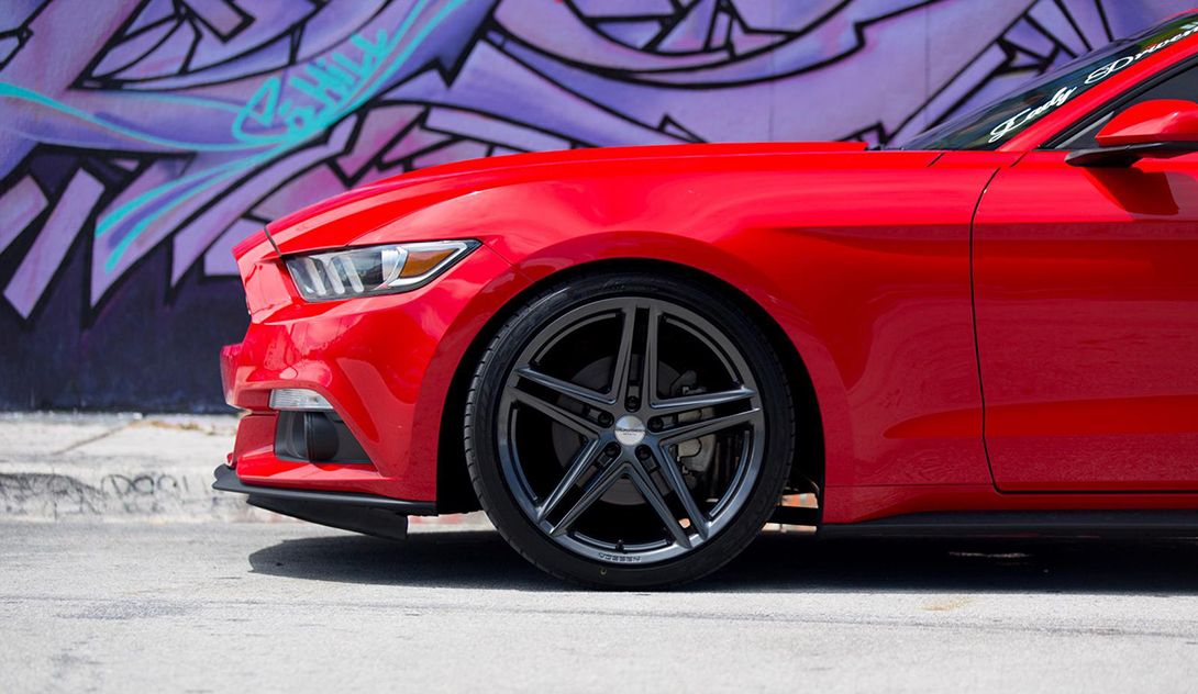 Vossen VFS-5 Installed on Ford Mustang (2)
