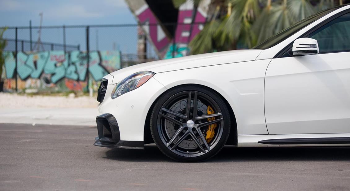 Vossen VFS-5 Wheels in Silver Metallic Installed on Mercedes Benz (2)