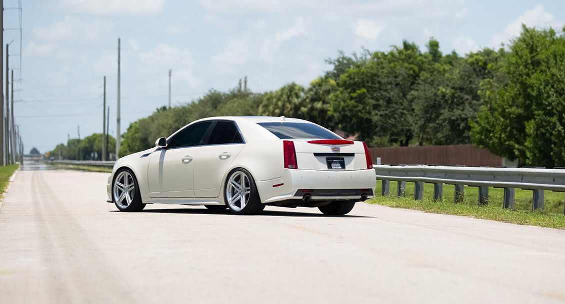 Vossen VFS-5 Wheels in Silver Metallic Installed on Cadillac (2)