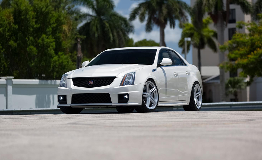 Vossen VFS-5 Wheels in Silver Metallic Installed on Cadillac