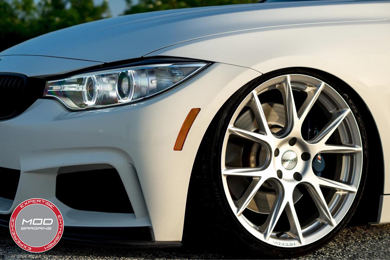 Vossen 20-inch Silver Metallic VFS6 Wheel Installed BMW F32 435i Closeup