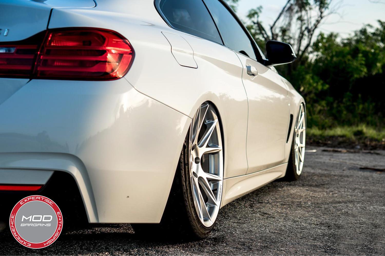 Vossen 20-inch Silver Metallic VFS6 Wheel Installed BMW F32 435i 3/4 Rear View