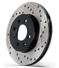StopTech Drilled Rotors: Mustang V6/GT/Boss/GT500