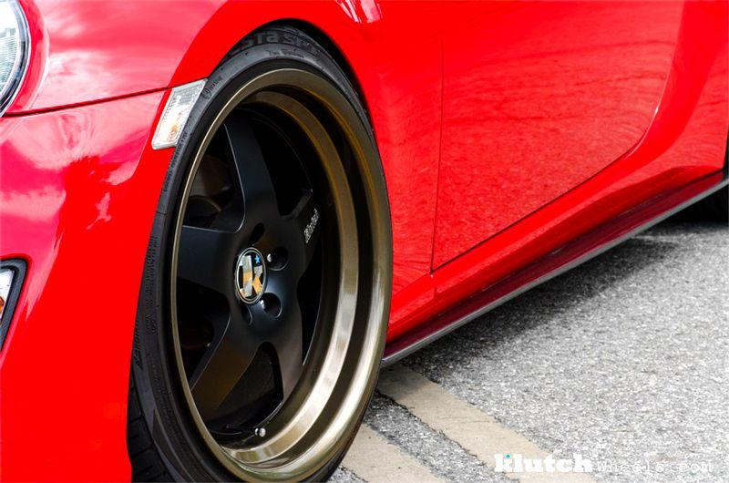 Klutch Wheels SL5 Black with Gloss Bronze Lip