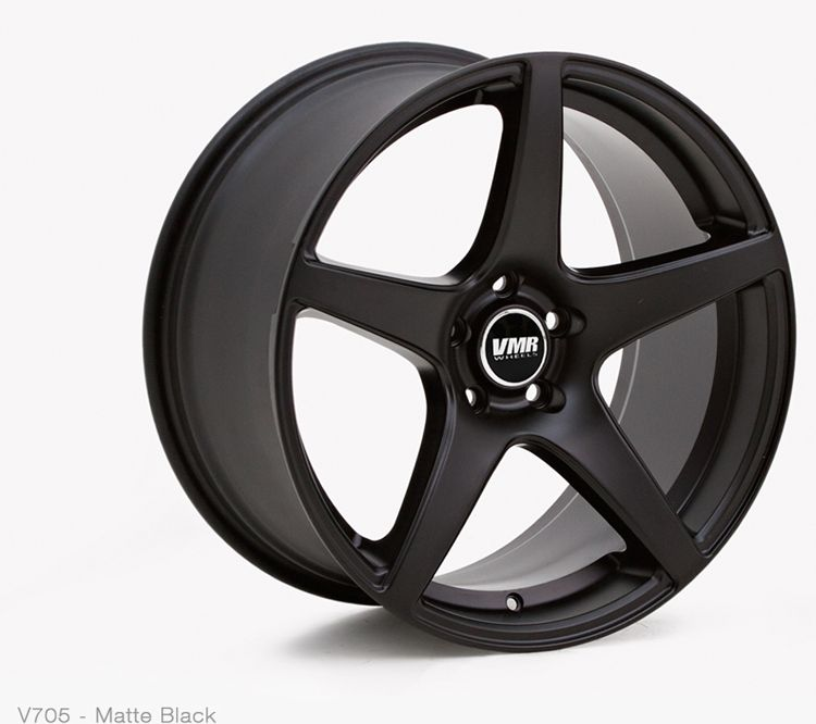 VMR Wheels: V705 in Matte Black Color