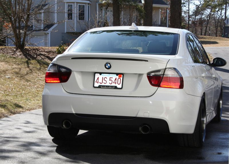 **MTech MSport Style Rear Bumper for 2006-11 BMW 328i/335i Sedan [E90] Single/Dual Exhaust
