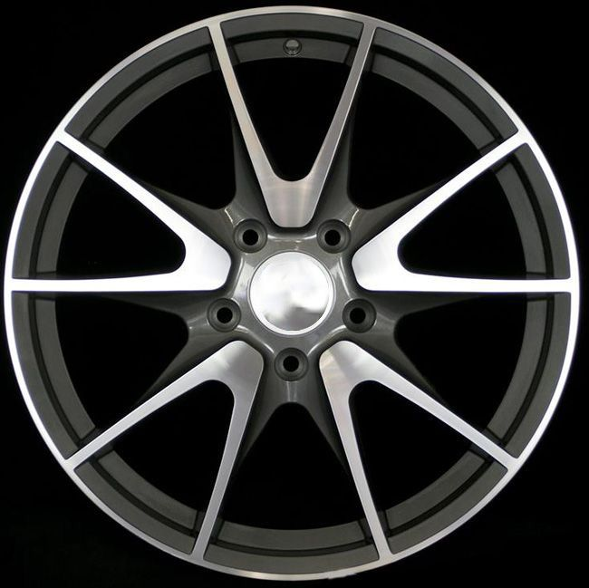 Porsche GT2 RS Style Wheels 19x8.5 19x10 Staggered Gunmetal Machined Face