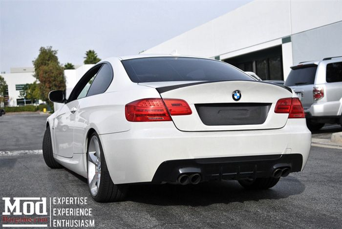 Carbon Fiber Rear Diffuser for 2007-12 BMW 328i/335i [E92] (Performance Style) for M-Sport
