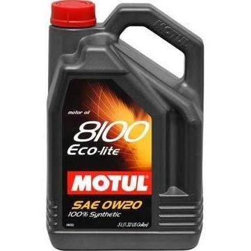 Motul 8100 Eco-Lite 0W-20 Oil 5 Liter Container 104983