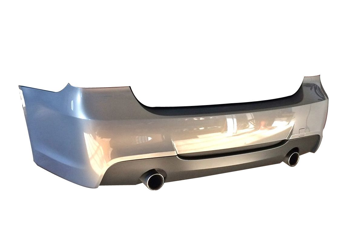 MTech Style Rear Bumper for 2006-11 BMW 3-Series Sedan [E90] Single/Dual Exhaust