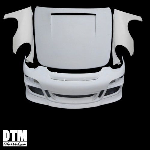 996-to-997 Conversion Front Fenders for 1999-04 Porsche 911/Turbo/Carrera [996] by DTM FiberWerkz