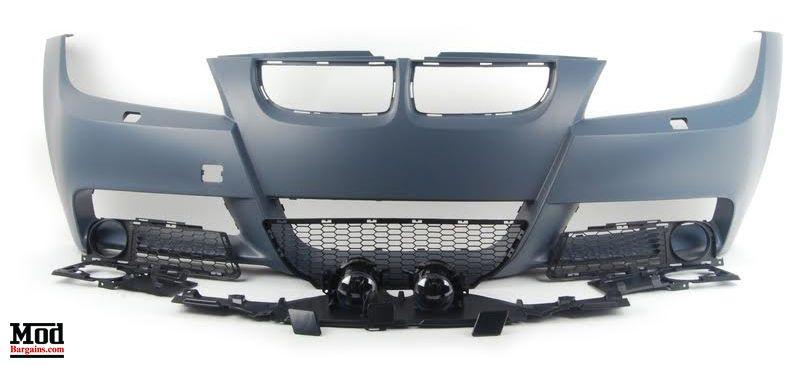 MTech Style Front Bumper for 2006-12 BMW 3-Series Sedan [E90] Pre LCI + LCI